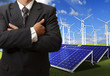 business man success with energy saving