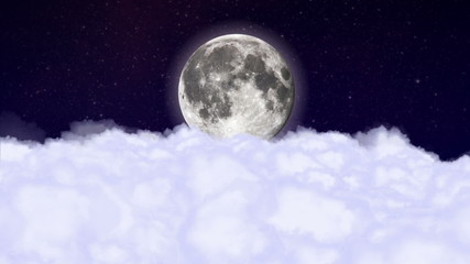 Moonlight  and Clouds - HD1080