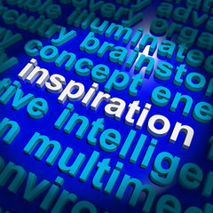Inspiration Word Showing Positive Thinking And Encouragement