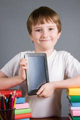 Boy with the e-book