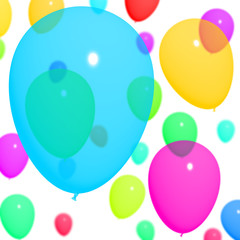 Multicolored Balloons Background For Birthday Or Anniversary