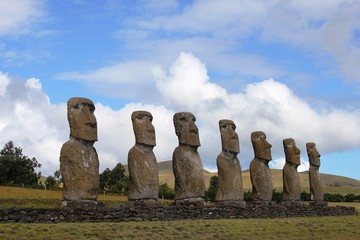 Seven Moai Platform, Easter Island, Chile