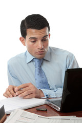 Businessman at desk working