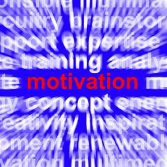 Motivation Word Showing Positive Encouragement And Determination