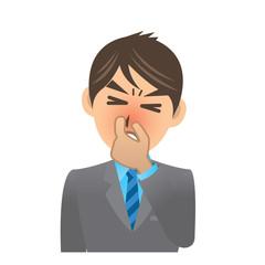 サラリーマン D 3 鼻炎 イラスト