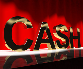 Cash On Stage As Symbol For Currency And Finance Or Acting Caree