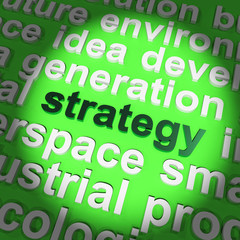 Strategy Word Showing Planning And Vision To Acheive Goal
