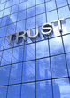 Spiegelfassade Blau - Trust Konzept vertikal