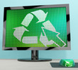 Recycle Icon Computer Screen Showing Recycling And Eco Friendly