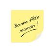 post it - fête des mères - Bonne fête maman