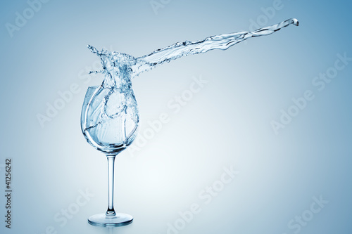 Water Splash in Wine Glass.