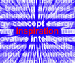 Inspiration Word Zooming Showing Positive Thinking And Encourage