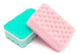two cleaning sponges with clipping path