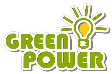 Label 2d green Power