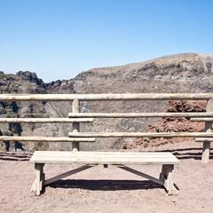 Bench in front Vesuvius crater