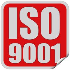 Sticker rot quad cu ISO 9001