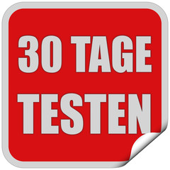 Sticker rot quadrat cu 30 TAGE TESTEN