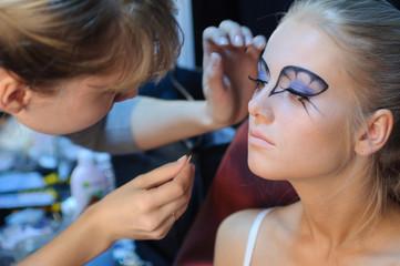 Make up preparation.