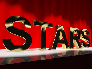Stars Word On Stage Meaning Famous People Like Celebrities Divas