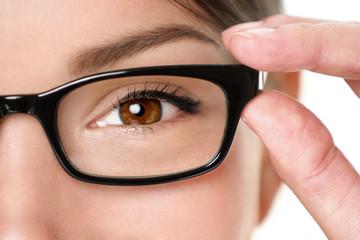 Glasses eyewear eye closeup