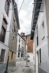Calle típica de Hervás, Cáceres, España