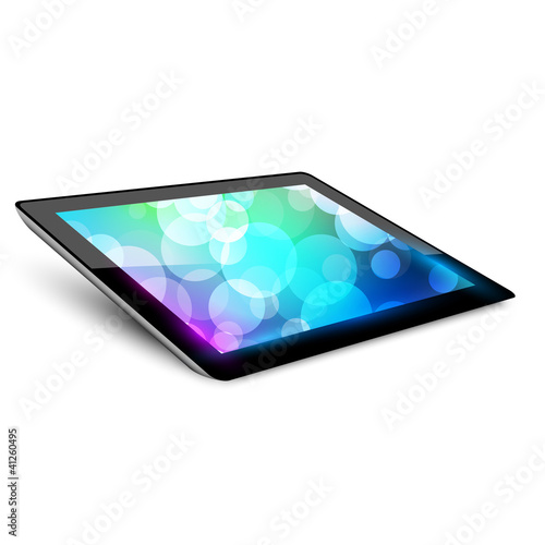 Tablet pc 4. Variant without hand.  White background.