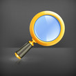 Magnifying lens, vector