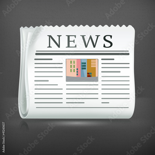 Newspaper, vector