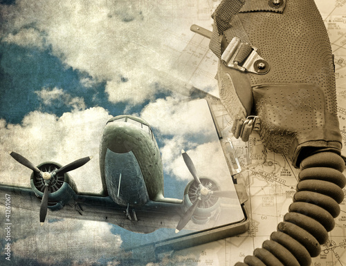 Retro aviation background