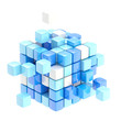 Cube abstract background isolated