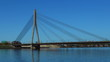 HD - Motion timelapse. Cable-stayed bridge