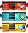 Set of website navigation templates 6. Variant on White.