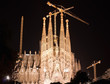 Sagrada Familia in Barcelona night