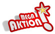 Sticker 3d Mega Aktion