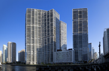 downtown miami highrises along the intercoastal waters