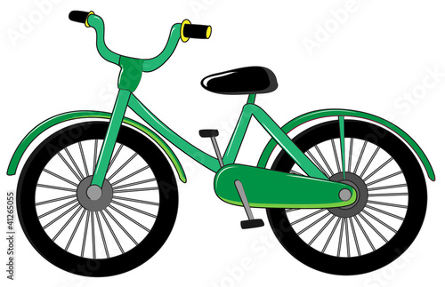 Small green bike