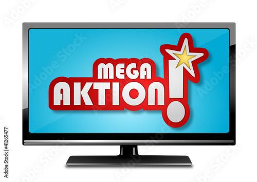Bildschirm Werbung Mega Aktion
