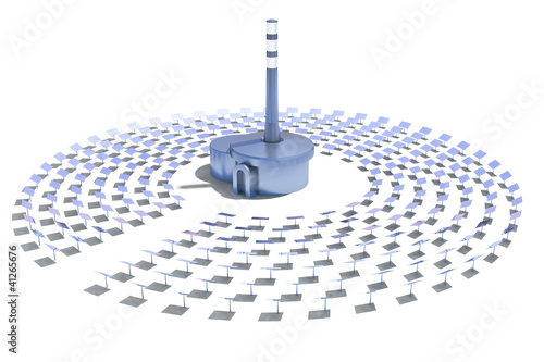 solar power plant on a white background - 41265676