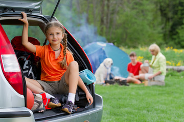 Vacation, Travel - family on summer camp