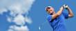 golfer shooting a golf ball