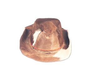 Buffalo skin hat isolated on white