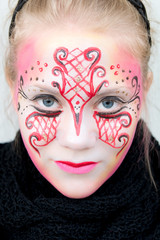 Beautiful girl with face paint