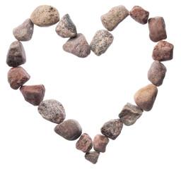 Stones heart background