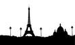 Paris - Tour Eiffel - Sacré Coeur