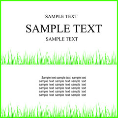 text on a grass background