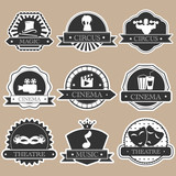 Fototapety Vintage label