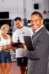 health club manager and trainers