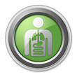 "Green 3D Style Button ""Internal Medicine"""