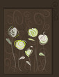 Abstract roses postcard. Floral pattern vector eps10