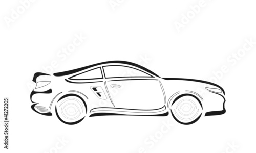 cartoon vector car sketch